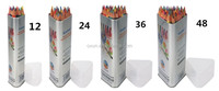 Artist 48 & 36 & 24 & 12 color lead wood drawing customized packed color pencil