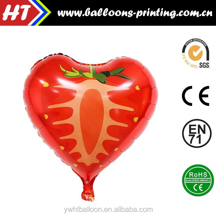 HOT SALE 18inch Promotional fruits shaped foil balloon Party Decoration Kids Gifts