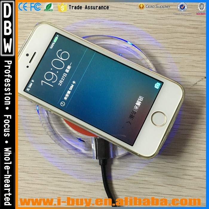 New Genuine Promotional Gifts Cordless Qi Universal Homemade Wireless Charger for iPhone 6plus LG Nokia 6