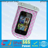 factory ipx8 low price cheap waterproof custom cell phone pouch for htc
