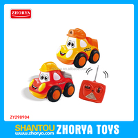 Funny children Plastic Cartoon 27Mhz 4ch remote control car and truck toys with sound