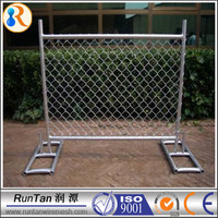 Australia galvanized removable portable diamond panel fences / chain wire temporary fence / Chain Link Temporary Fence Panels