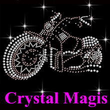 cool crystal motorcycle rhinestone transfer motif for t shirt
