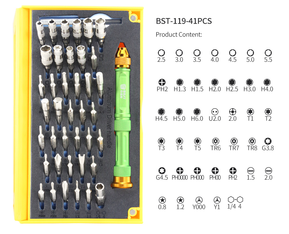 BST-118 67 in 1 Hand Tool Sets for iphone xiaomi smartphones repairing tools computer electronics repair work Tools Kit bag