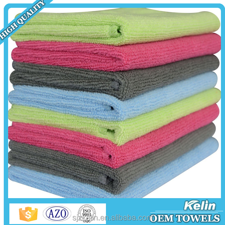 China supplier microfiber 85% polyester 15% polyamide 320gsm car cleaning terry cloth