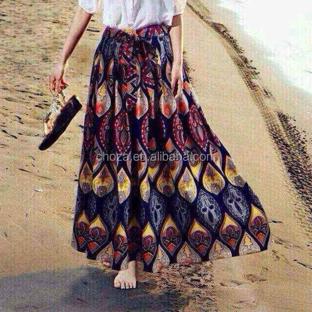 C23153B latest skirt design pictures woman fashion maxi skirt long skirt