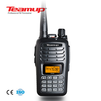 Teamup T550 Commercial UHF VHF 5W Light Weight Walkie Talkie