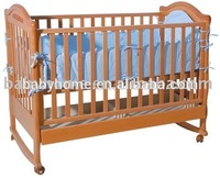 2014 Safety design baby wooden crib with mosquito net