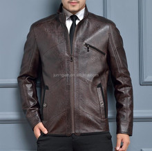 beige white pu leather jacket manufacturer in karachi for men guangzhou factory