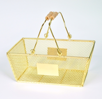 cosmetic metal shopping basket