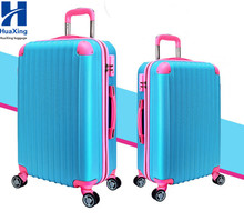 trade assurance supplier,4 universal remute wheels,zipper hard-shell ABS+PC trolley luggage set/Travel suitcase
