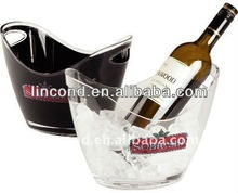 2013 hot sale 8L big utility clear custom acrylic boat-shape energy drink ice bucket/wine cooler for party