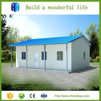 Portable cabin kits prefab light steel cottage A frame home for sale