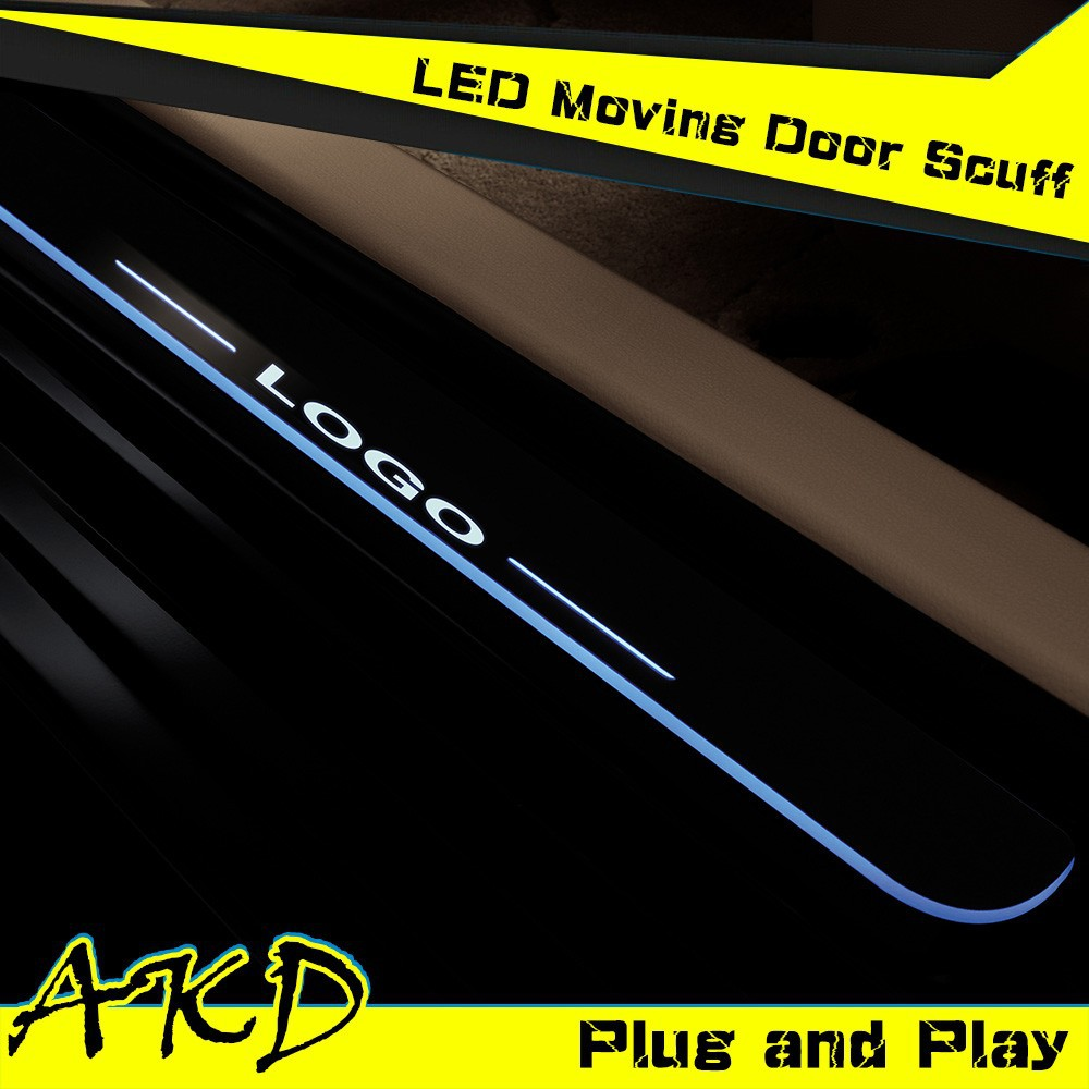 AKD Car Styling Mazda 6 LED Moving Door Scuff New Mazda6 LED Door Sill plate 2014-2015 Side Step Cover Pedal