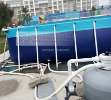 New style galvanized steel frame swimming pool with 0.85mm plato PVC materials