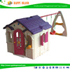 Factory Price CE GS SASO Food Grade Material Chocolate House Swing Set 2015 Plastic Indoor Playhouse Toy