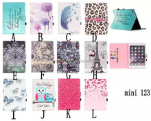 Multi Design 3D Painted Book PU Leather Case For Apple iPad mini 1 2 3