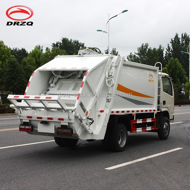 Compressible garbage truck ,5 tons dustcart ,bin van supplier