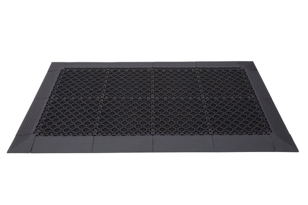 Three in one nylon brush cover interlocker entry door mat