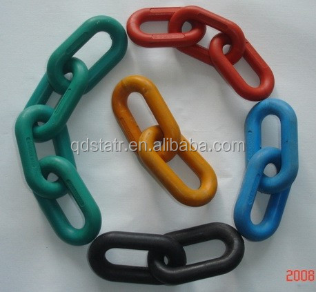 high tensile plastic coated link chain