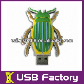 Bowknot Luxuriant Crystal jewelry full capacity fair price insect usb flash drive