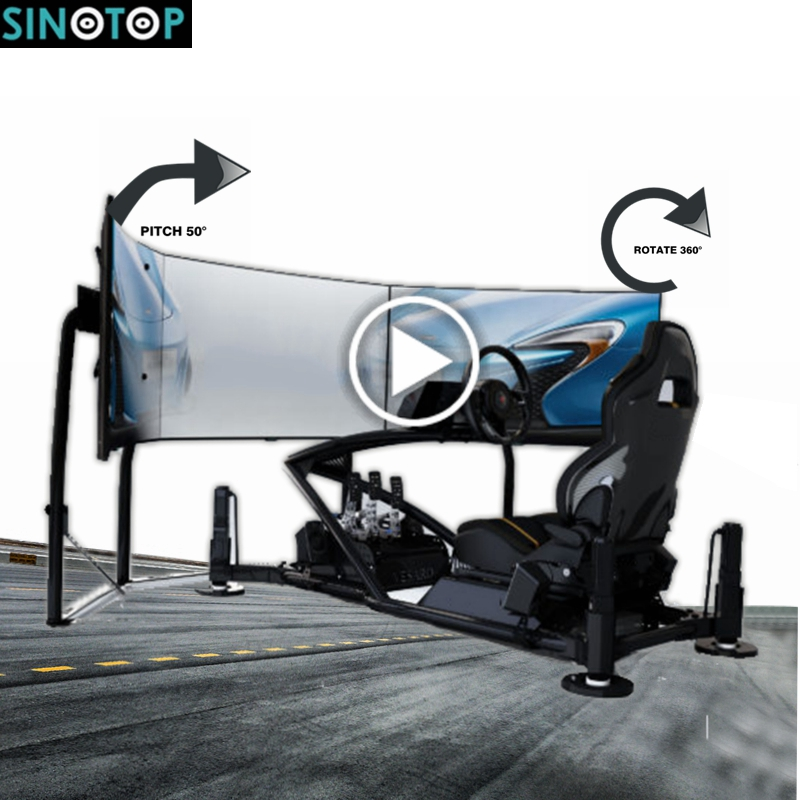SINOTOP 4dof high simulation motion platform 9d vr driving simulator pc game