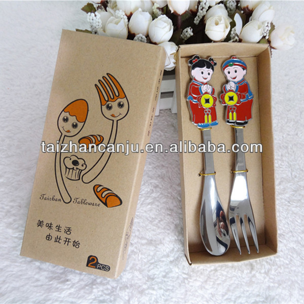 Stainless steel food grade cutlery set in stocked