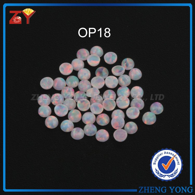 2.25mm small loose synthetic opal cabochons round flat bottom opals