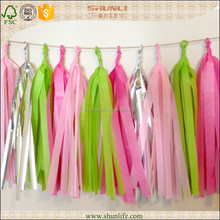 New year decoration Spring color Twinkle Fringed Tissue Paper Garland