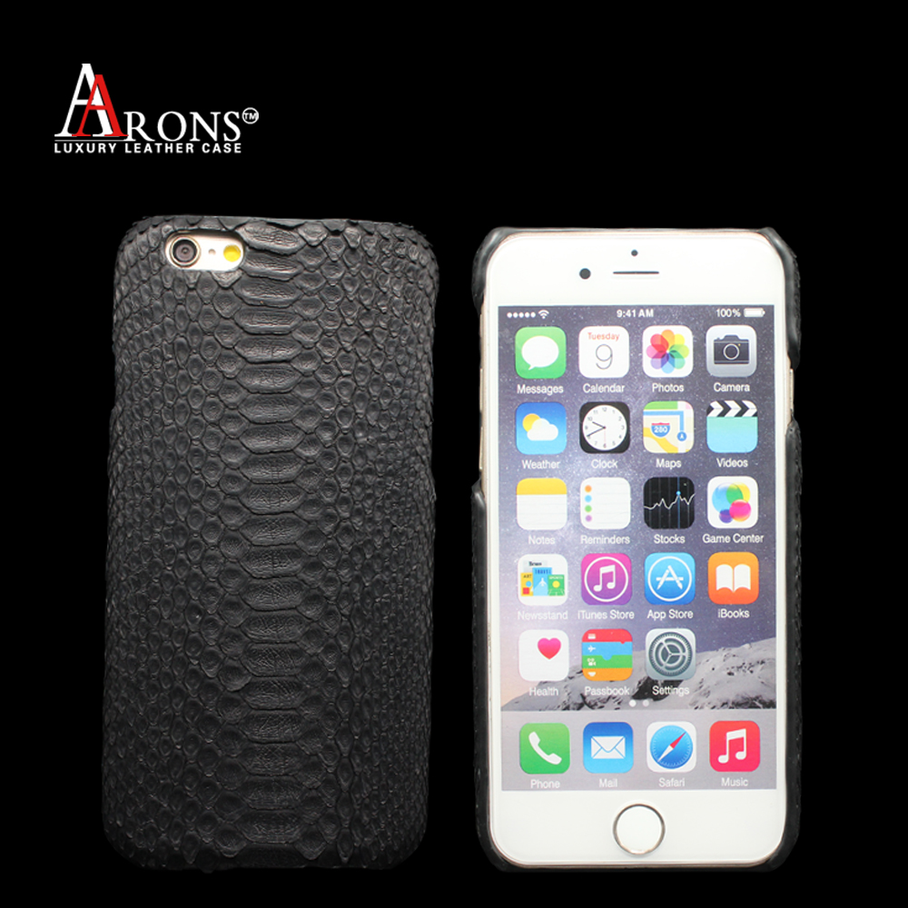 Custom High Quality Genuine Snake Leather Mobile Phone Case Back Cover for iphone 7