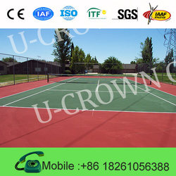 enviromental-friendly tennis court flooring/used basketball flooring/portable volleyball court sports flooring