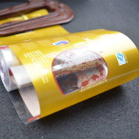custom color printing lamination plastic high quality eco packing film with clear window
