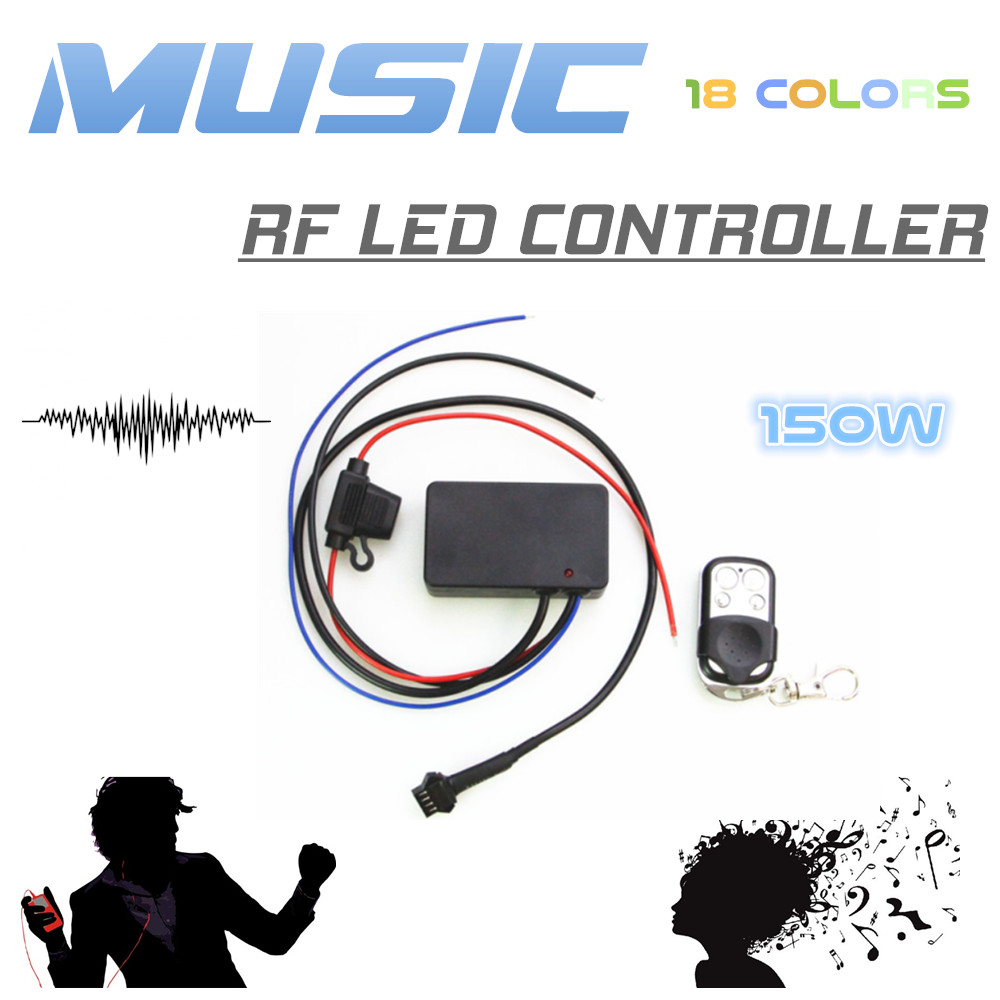 LED Wireless Sound Activated Bluetooth APP Control Motorcycle Underbody Glow LED Lights Flexible Strips Kit