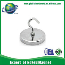 rare earth N52 strong permanent round flexible hook magnet