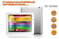 Analog TV Mobile 3G Tablet 9.7 inch MTK8389 with OTG GPS Two SIMs Slot