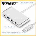 2016 hot selling usb c type connector & usb type c hub to 4-Ports Adapter 5GBps for Macbook