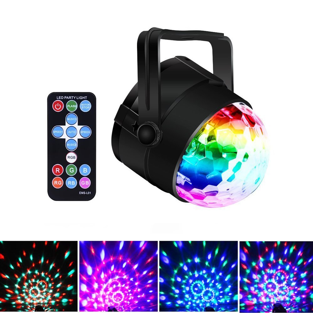 Protable Stage DJ Light, 7 Color Modes and Sound <strong>Activated</strong>, Strobe Disco Ball Karaoke Machine for Halloween Party KTV Festival <strong>o</strong>