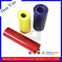 Splined roller for spiked conveyor,plastic tapered tubes