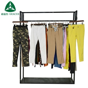Korean women Used clothes fashion work pants second hand clothing in bales