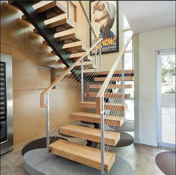 Luxury Staircase/u Shaped Wood Staircase (PR L1066)