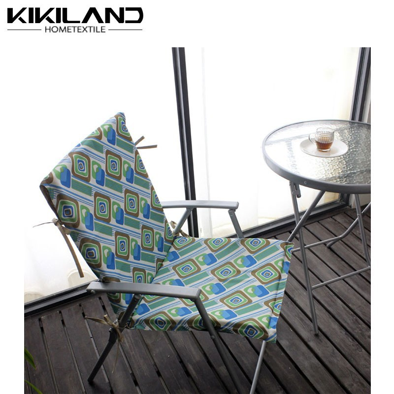 Colorful Beach Chair pads print cushion cover with waterproof