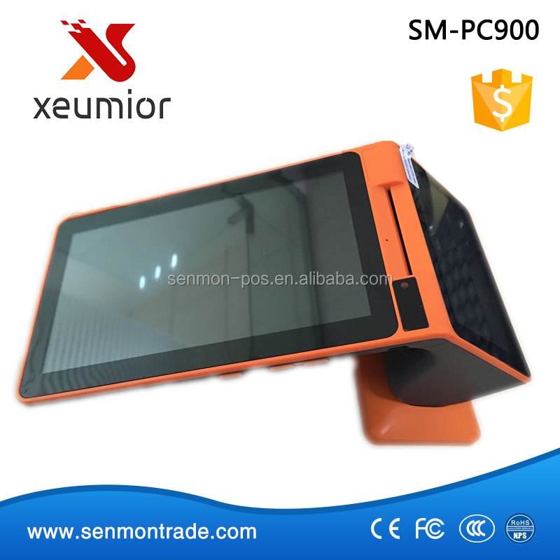 SM-PC900: 7 Inch Android Point of Sale Mobile Payment Terminal with 3G/WIFI/NFC/Barcode Scanner/Printer