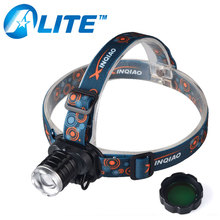 3w Q5 LED rechargeable 300 lumens hunting headlamp with green filter