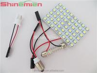White Car 48 SMD 1210 LED panel Light Dome Interior Bulb T10 Festoon Spring 12V