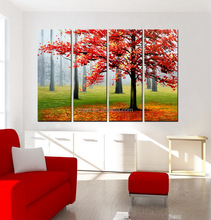 2015 New landscape fabric painting designs artwork