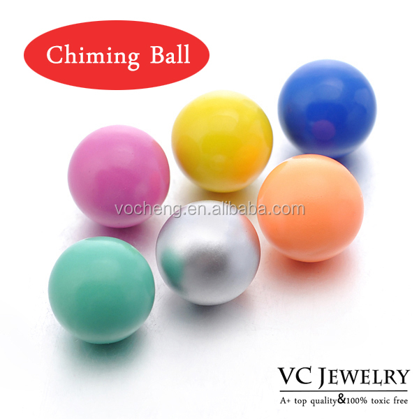 Wholesale 10pcs/lot Multicolor 12mm Baby Ringing VOCHENG Angel Ball vocheng angel bola (VA-035*10) Free Shipping