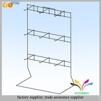 Retail store fashion black hanging metal wire jewelry counter display rack