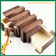 box shaped puzzle wooden cube box puzzle
