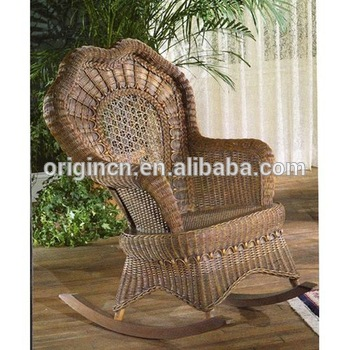 Old Fashion Rattan Wicker Woven Cheap Home Terrace Furniture Outdoor Big Lots Rocking Chair