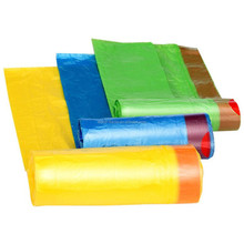 Disposable plastic draw tape garbage bag trash bag with custom color